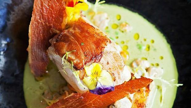 Recipe parma ham roast monkfish tail cockle parsley for Monkfish and parma ham recipe